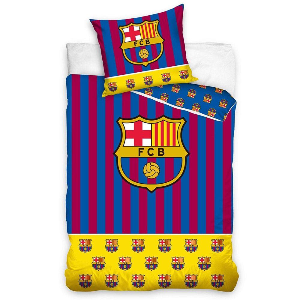 Bebe Gavroche Parure de lit 100% coton FC Barcelona Yellow 140x200 cm
