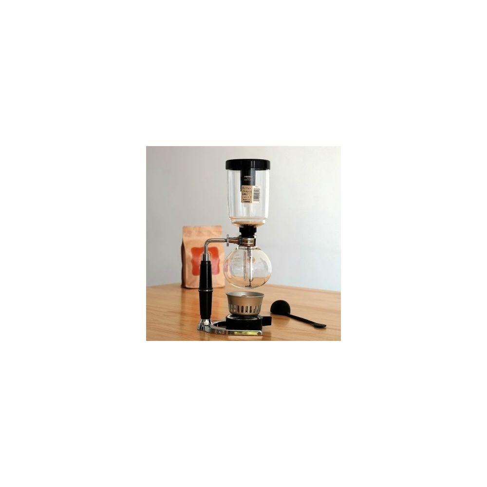 Wewoo Siphon classique cafetière noire poignée pot de en verre pour 5 personnestaille 37.5x11.3cm Noir