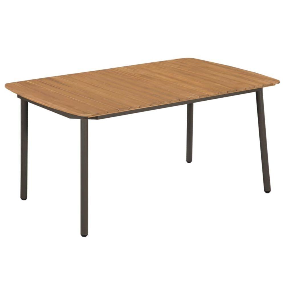 Vidaxl Table d'extérieur Bois d'acacia solide et acier 150x90x72 cm | Brun - Meubles de jardin - Tables d'extérieur | Brun | Br
