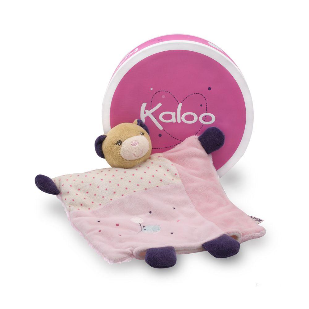 Kaloo Kaloo Petite Rose : Doudou marionnette ours joli