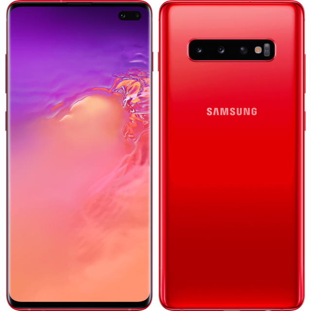 Samsung - Galaxy S10 Plus - 128 Go - Rouge - Smartphone Android