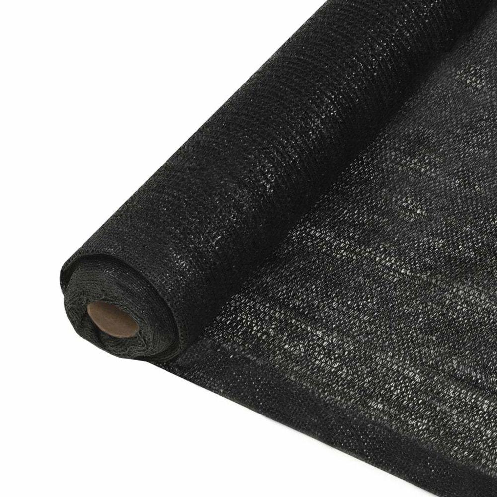 Vidaxl vidaXL Filet brise-vue PEHD 1,5 x 50 m Noir