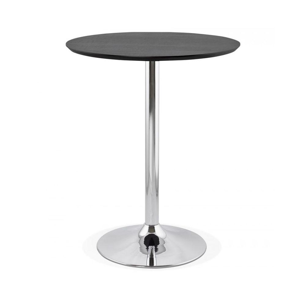 Kokoon Design Table bar design ATAA BLACK 90x90x110 cm