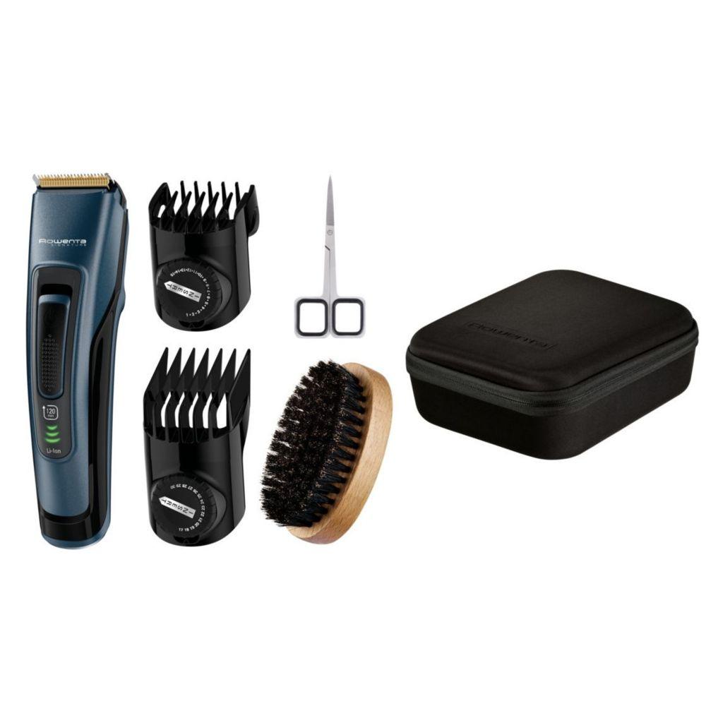 Rowenta rowenta - tondeuse à barbe rechargeable et secteur noir - tn4500f0