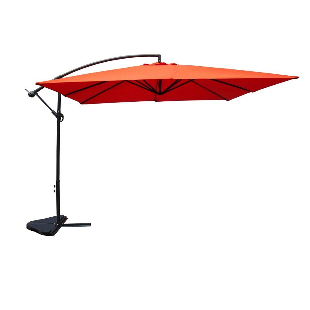 Concept Usine Solenzara terracota (rouge/terre): parasol déporté carré de 3 mètres sur 3