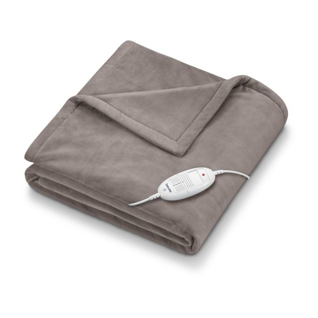Beurer - Couverture chauffante extra cosy Beurer HD 75 Gris - Chauffage