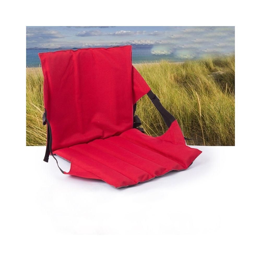 Wewoo Coussin pliant de siège extérieur rouge avec le dossier, taille: 78 * 40 * 2cm
