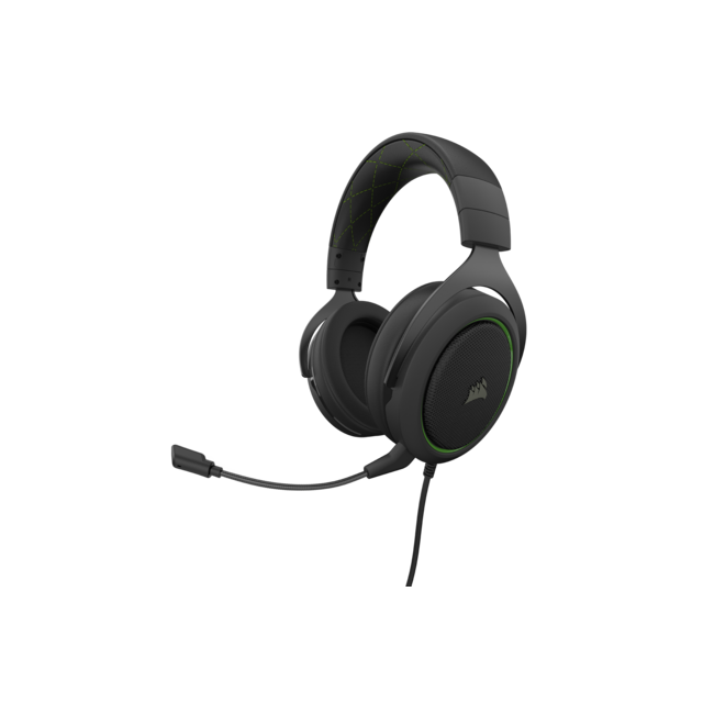 Corsair - HS50 PRO STEREO vert - Filaire - Occasions Clavier, Souris, Casque, Siège Gamer