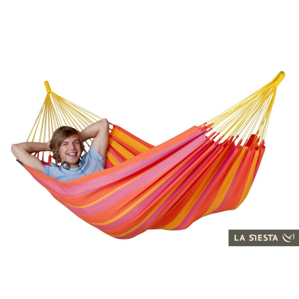 La Siesta LA SIESTA - Hamac simple sonrisa mandarine (Outdoor) 300x140