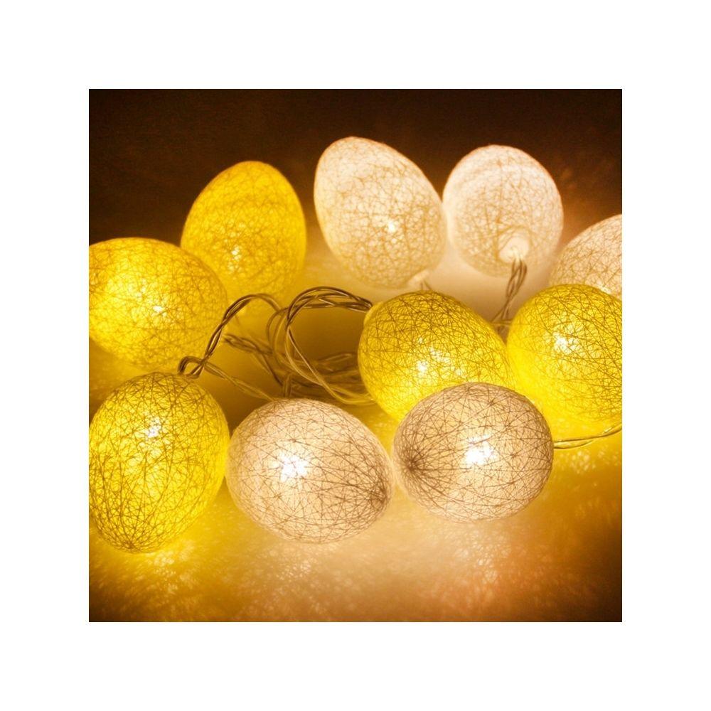 Wewoo Guirlande LED 3.5m 110V 20 LEDs Coton Couleur Fil Egg Lamp String String Vacances de Pâques Fête Ménage Lumière Décorati