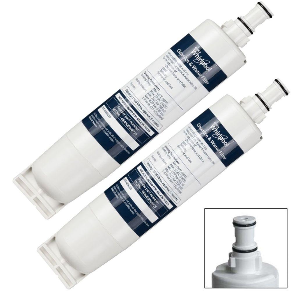 whirlpool Lot de 2 cartouches filtres a eau SBS002