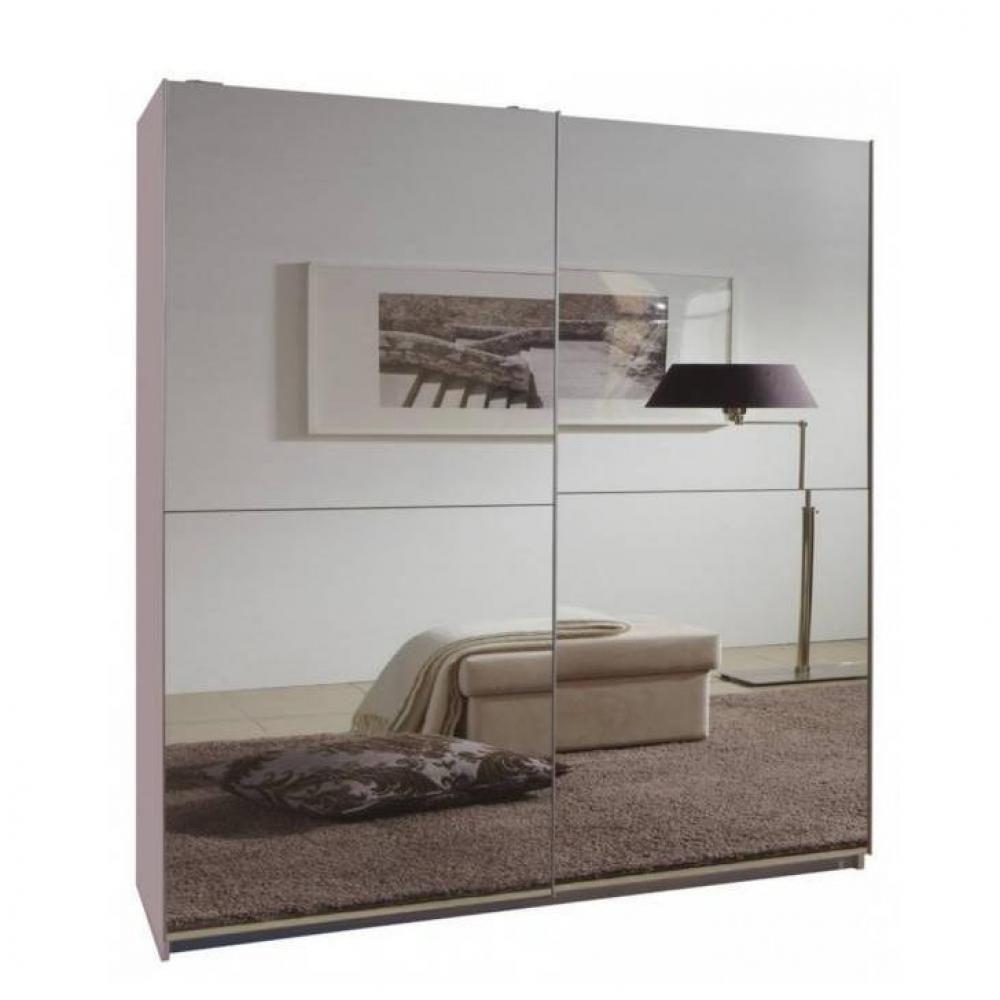 Inside 75 Dressing CLAPTON 179 cm portes coulissantes blanc / miroirs