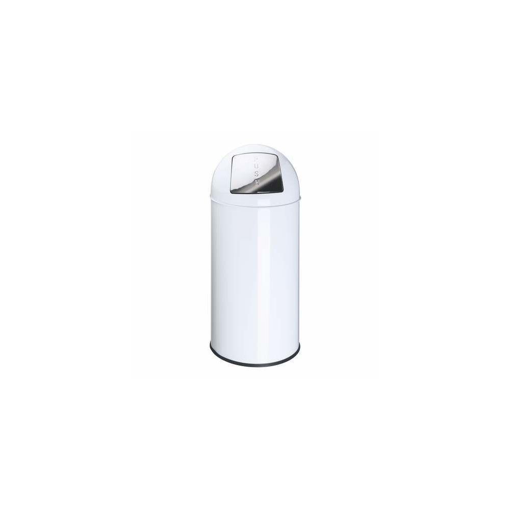 Eko Poubelle Push Can métal blanc 40 L