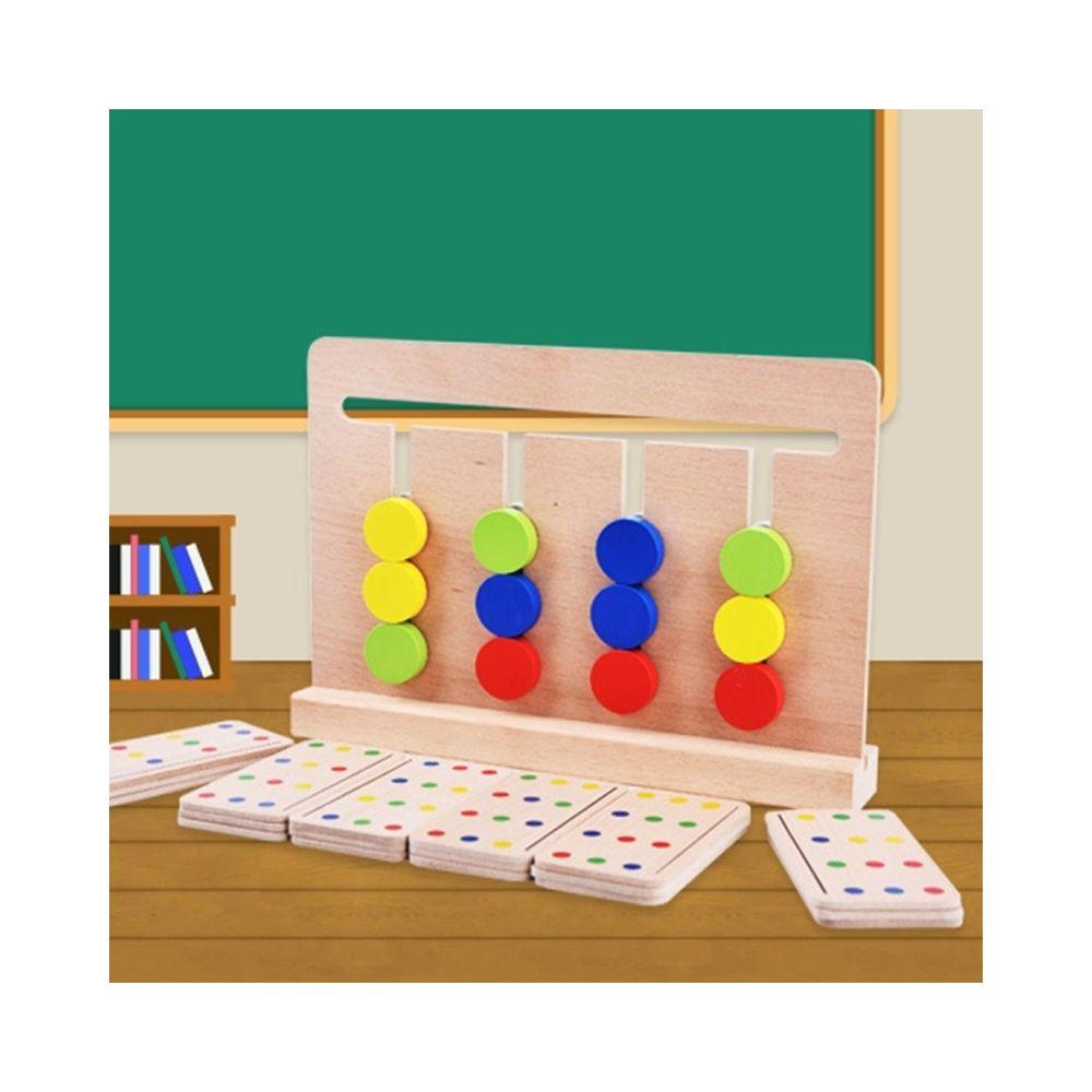 Wewoo Jeu d'éveil pour la Petite Enfance Éducation Préscolaire Formation Jouets Bébé Jouet Montessori Quatre Couleurs Couleur