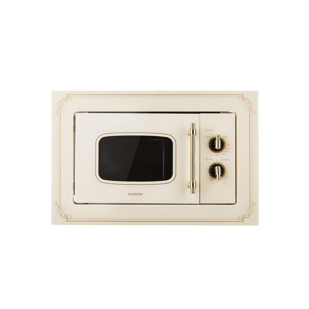 Klarstein Klarstein Victoria 20 Einbau-Mikrowelle, 20 l, 800 W, Grill: 1000 W, elfenbein Klarstein