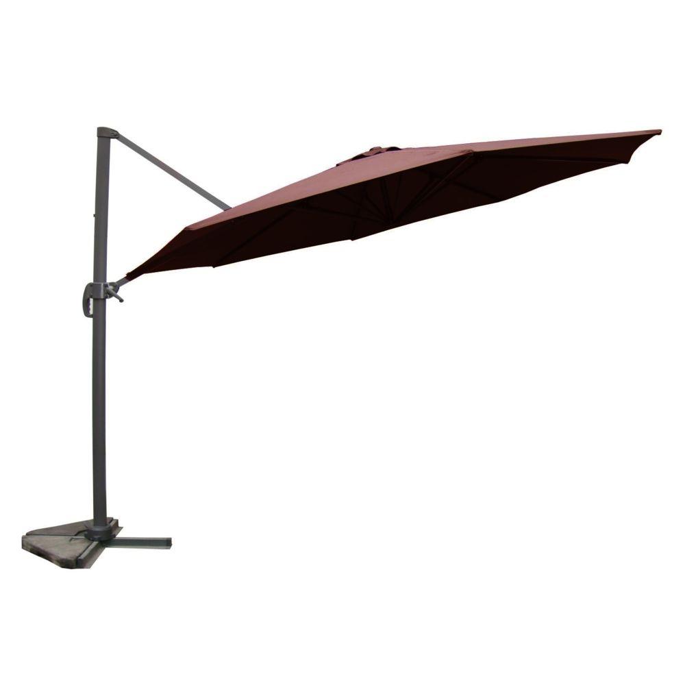 Concept Usine Castillo chocolat : Parasol déporté, rond Ø 350cm, rotatif à 360°