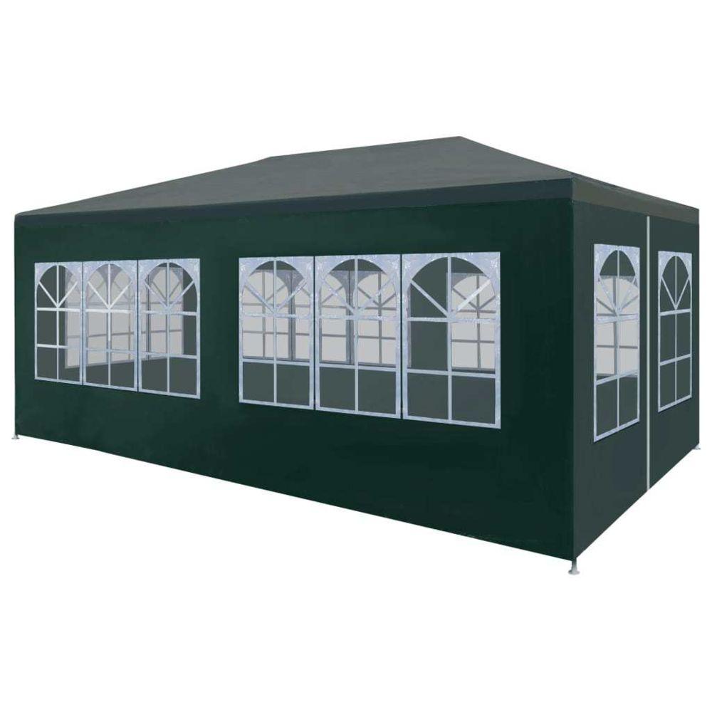 Vidaxl vidaXL Tente de Réception 3x6 m Vert Jardin Terrasse Patio Pavillon Tonelle