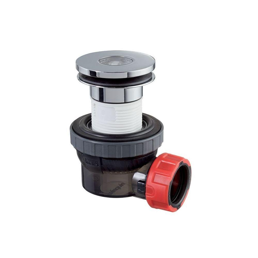 Wirquin WIRQUIN - 211722 - Bonde et siphon de lavabo ultra compact Nano 6.7 Dôme fixe écoulement libre ø32