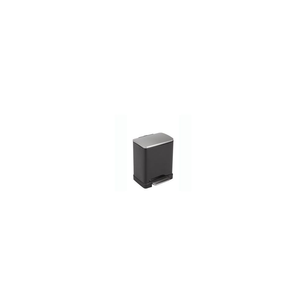 Rubbermaid Poubelle de Tri Sélectif E-cube 10L+9L Noir
