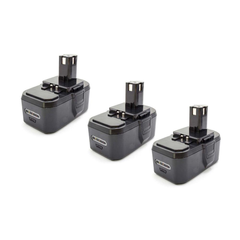 Vhbw vhbw 3x NiMH batterie 1300mAh (18V) pour outil électrique outil Powertools Tools Ryobi CCS-1801/DM, CCS-1801/LM, CCS-180