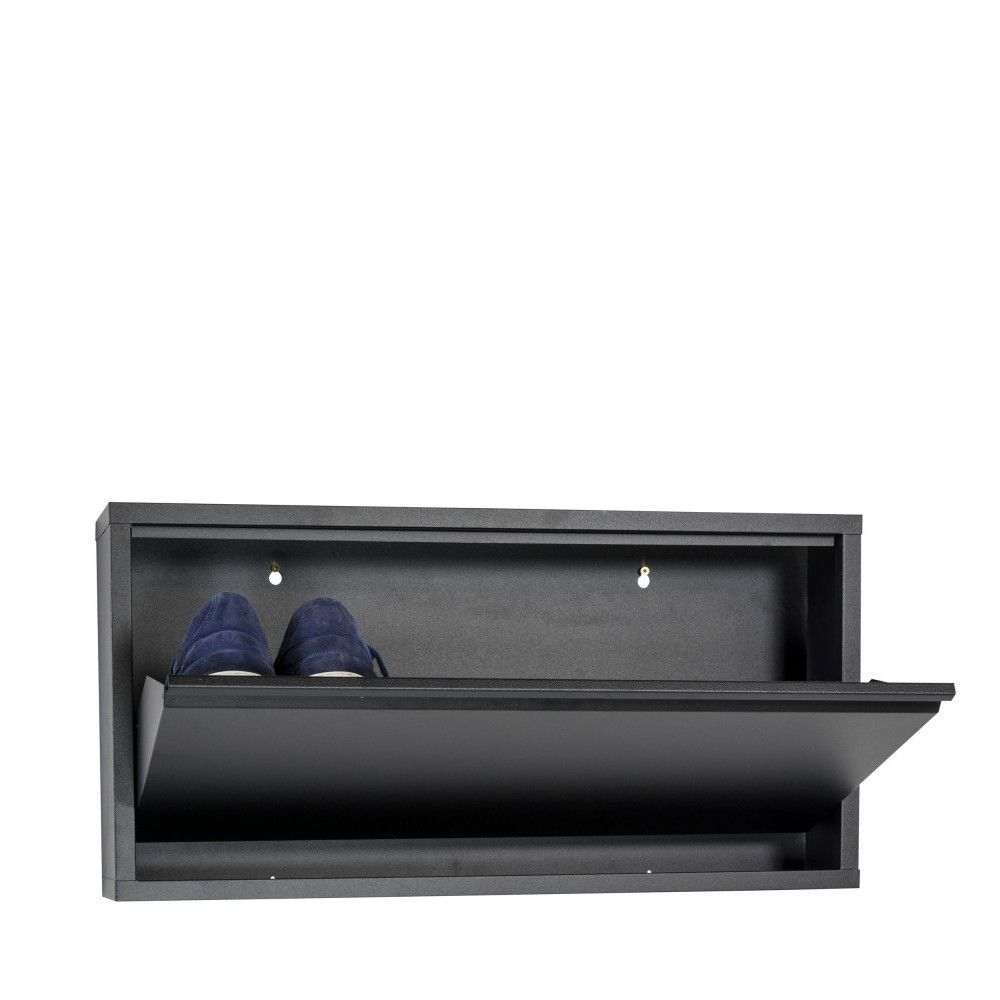 Spinder Design Meuble à chaussures mural Billy 1 - Couleur - Noir