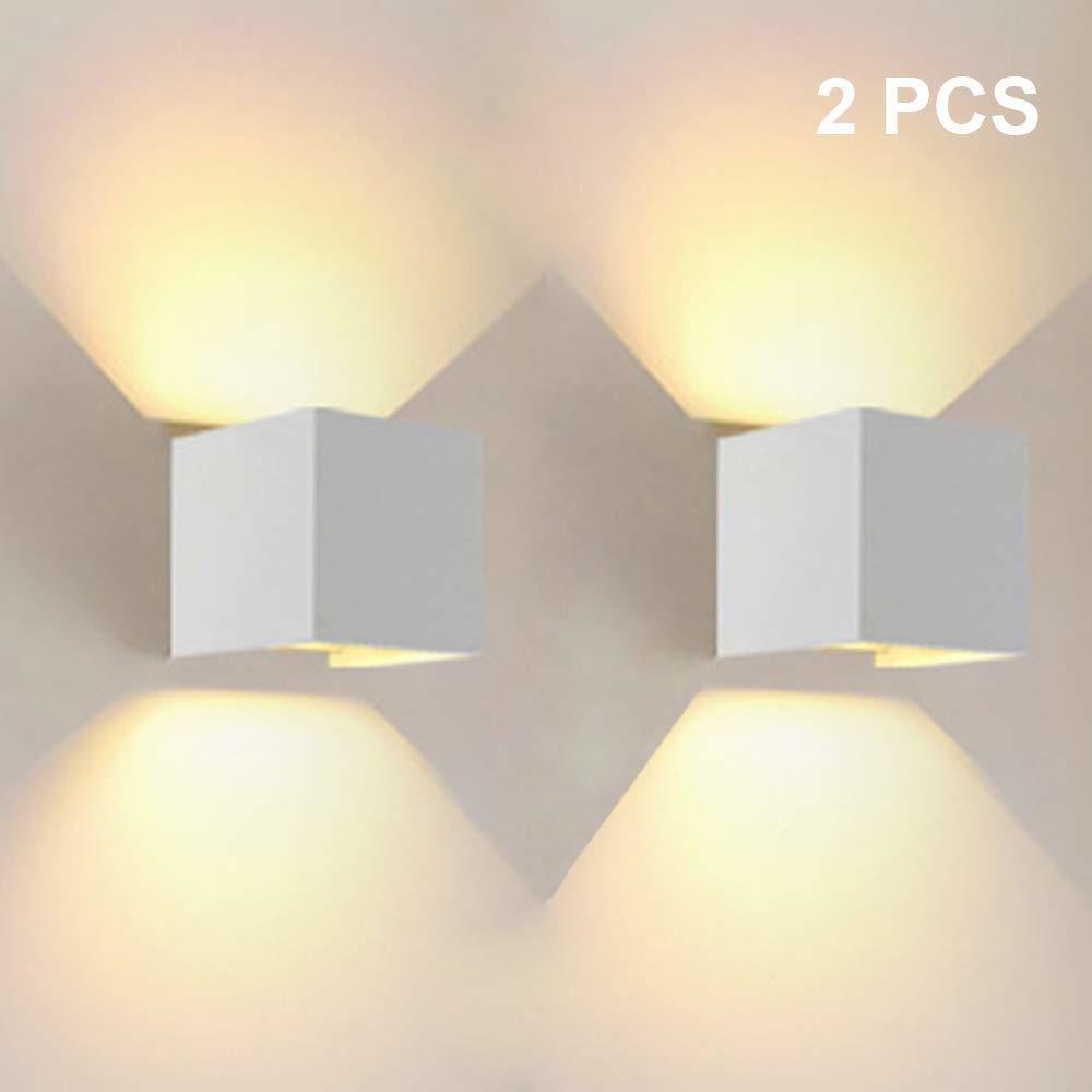 Stoex 12W LED Applique Murale Interieur Up and Down Lampe murale Blanc Chaud, Angle de Faisceau Réglable pour Maison,Couloir S