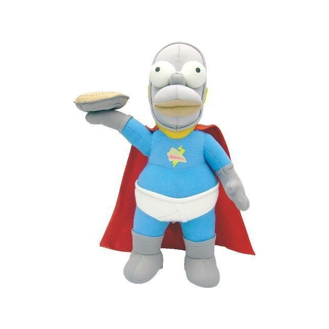 Simpsons - PELUCHE SIMPSONS HOMER TARTMAN  39 cm Simpsons   - Héros et personnages Simpsons