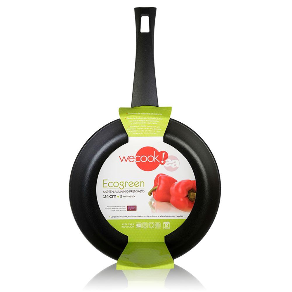 Icook Poêle à frire en aluminium 26cm induction antiadhésive écologique sans PFOA Wecook Ecogreen