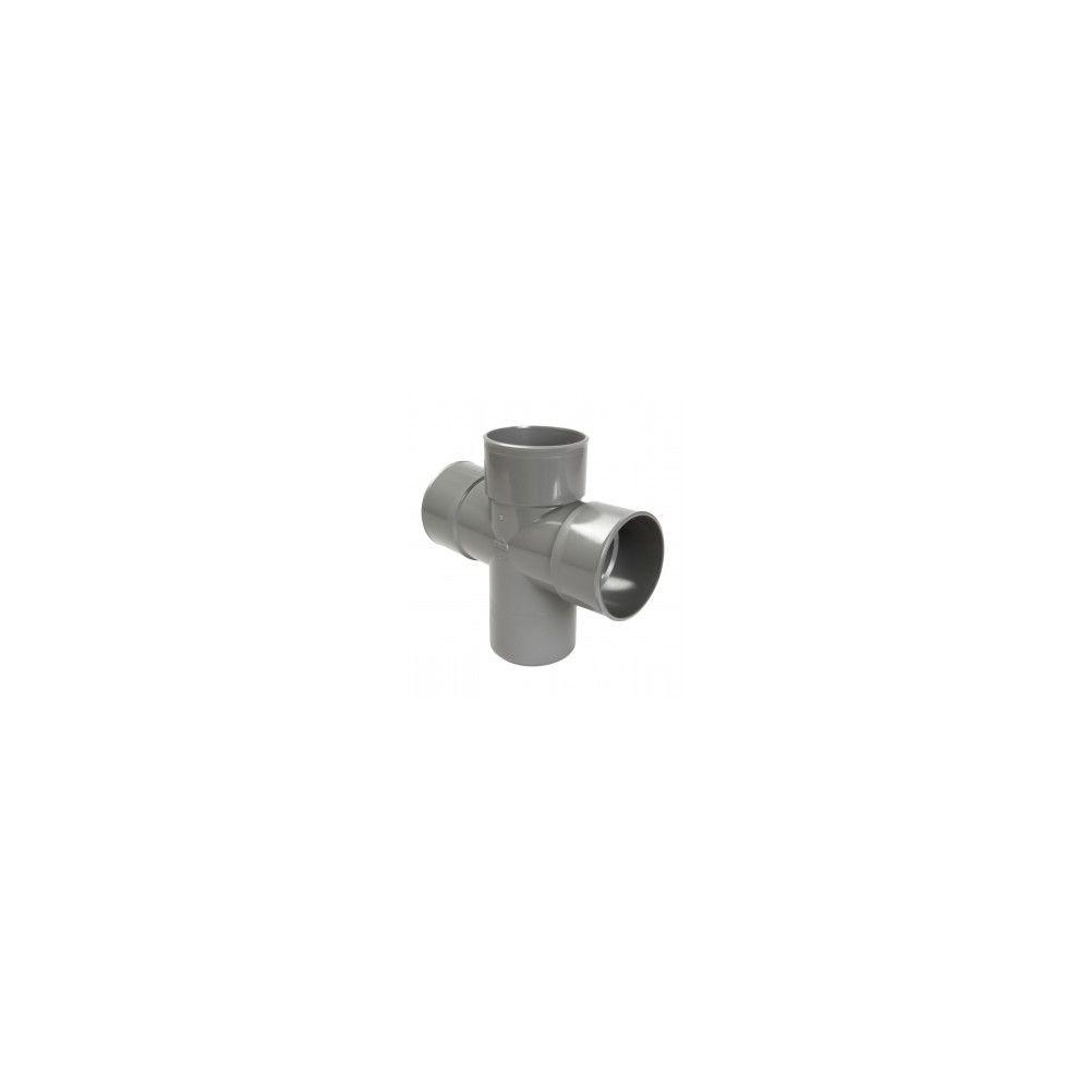Nicoll Culotte MF double parallèle 87°30 - RT18 - PVC gris - Ø 100 mm