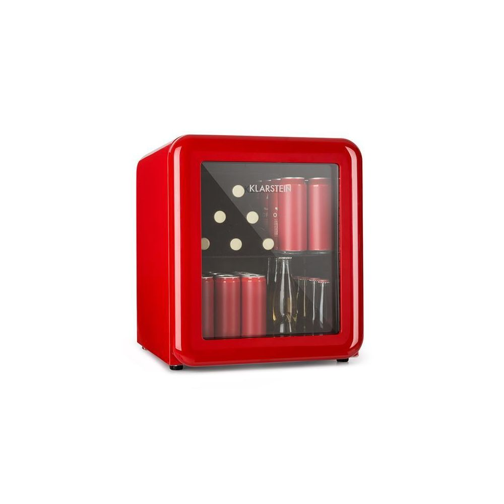 Klarstein Klarstein PopLife Réfrigérateur à boissons 48L Minibar 0-10°C design rétro rouge Klarstein