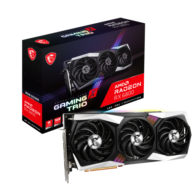 Msi - Radeon RX 6800 GAMING X TRIO - Triple Fan - 16G - Carte Graphique AMD
