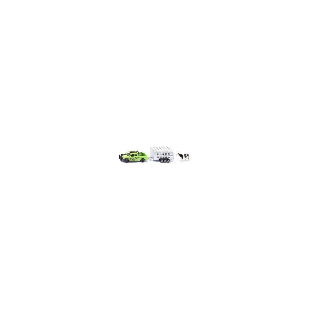 SIKU Voiture Dodge RAM 1500 avec remorque à bétail