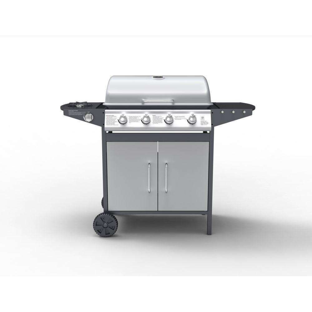 Concept Usine Branson - Barbecue à gaz 4 brûleurs + ustensiles inclus