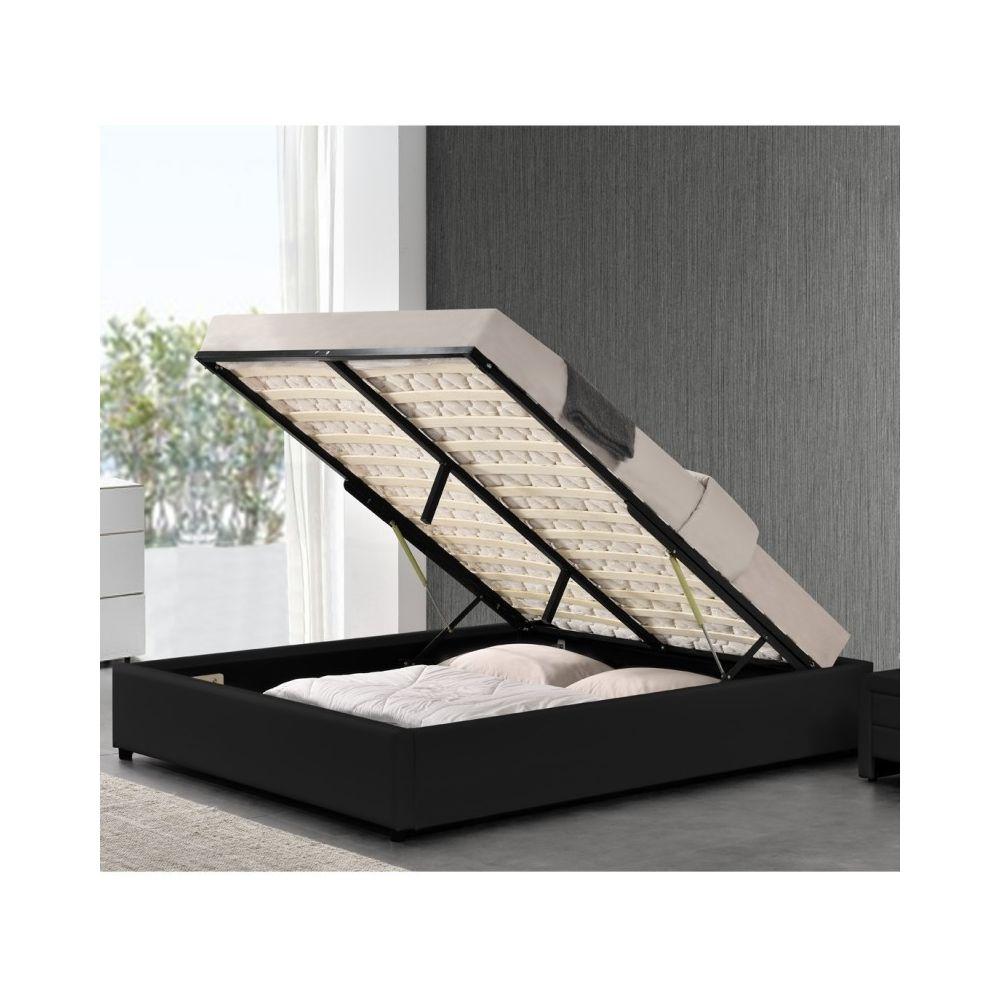 Meubler Design Sommier coffre de rangement Room - Noir - 160x200