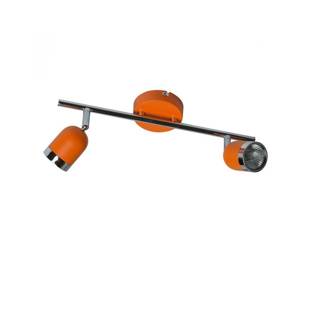 Luminaire Center Spot Orange Techno 2 ampoules 17 Cm
