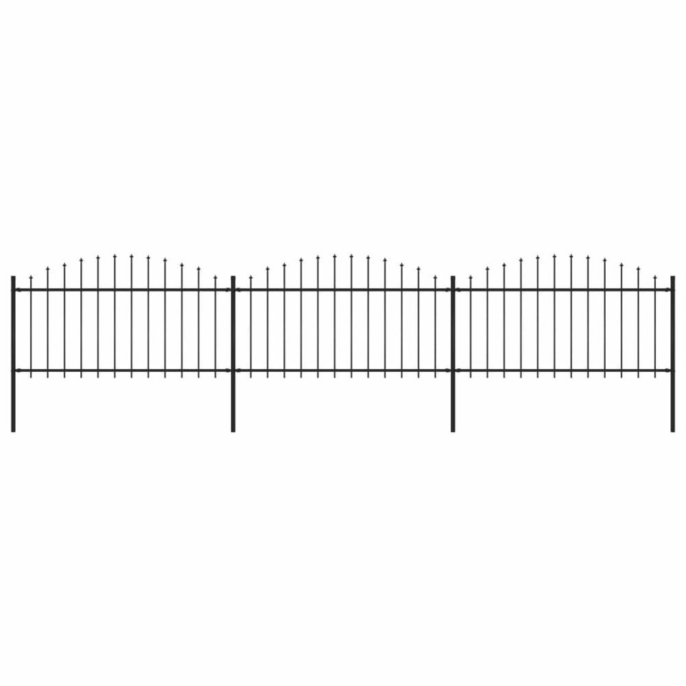 Vidaxl vidaXL Clôture de Jardin à Dessus en Lance (1,25-1,5)x5,1 m Acier Panneau