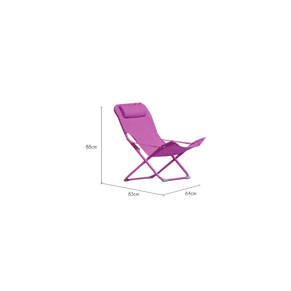 Rendez Vous Deco - Chaise longue Talanga rose (lot de 6) - Chaises