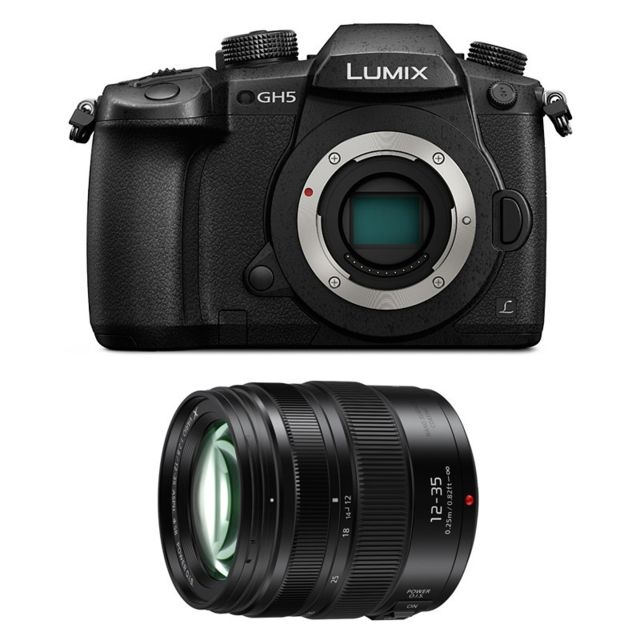 Panasonic - PACK PANASONIC LUMIX GH5 Noir + 12-35 - Pack appareil photo