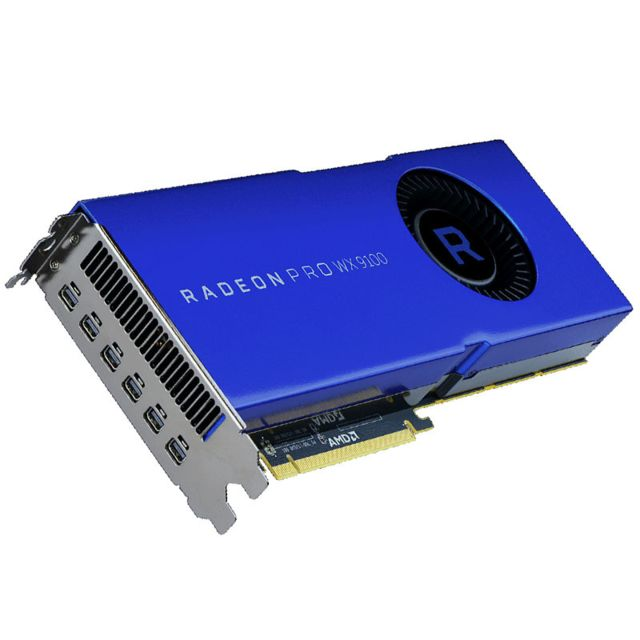Amd - Carte graphique AMD Radeon Pro WX 9100, 16384 MB HBM2, 6x mini DP - Carte Graphique AMD