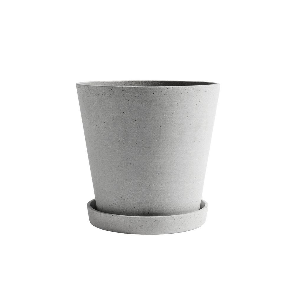 Hay Pot de fleur avec soucoupe - gris - XXL