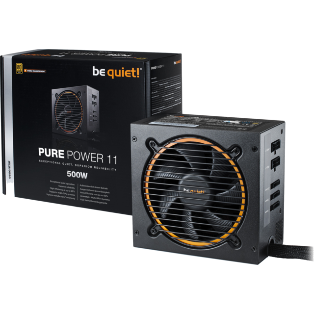 Be Quiet - PURE POWER 11 - CM 500W - 80 Plus Gold - Alimentation modulaire