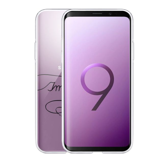 Evetane Coque Samsung Galaxy S9 Plus souple transparente Imagine Motif Ecriture Tendance Evetane.