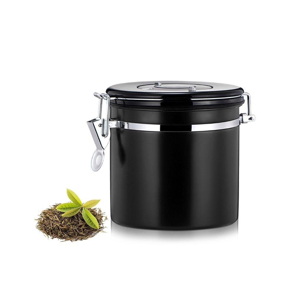 Wewoo Conteneur de stockage de haricots café et noir 1200ml en acier inoxydable scellé de nourriture de motifs de avec la soup