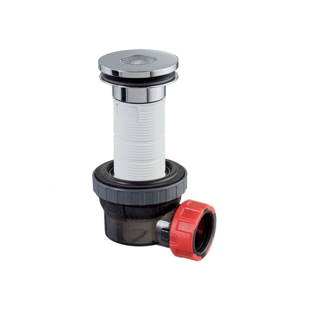 Wirquin Bonde recoupable et siphon de lavabo ultra compact NANO 6.7