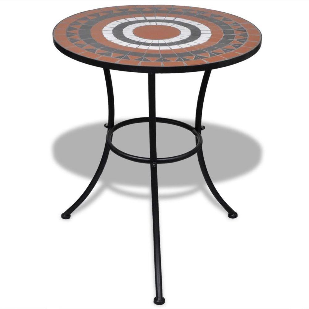 Vidaxl vidaXL Table mosaïque terre cuite / blanc