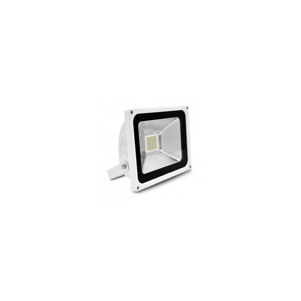 Vision-El Projecteur Exterieur LED Plat Blanc 30W 6000 K