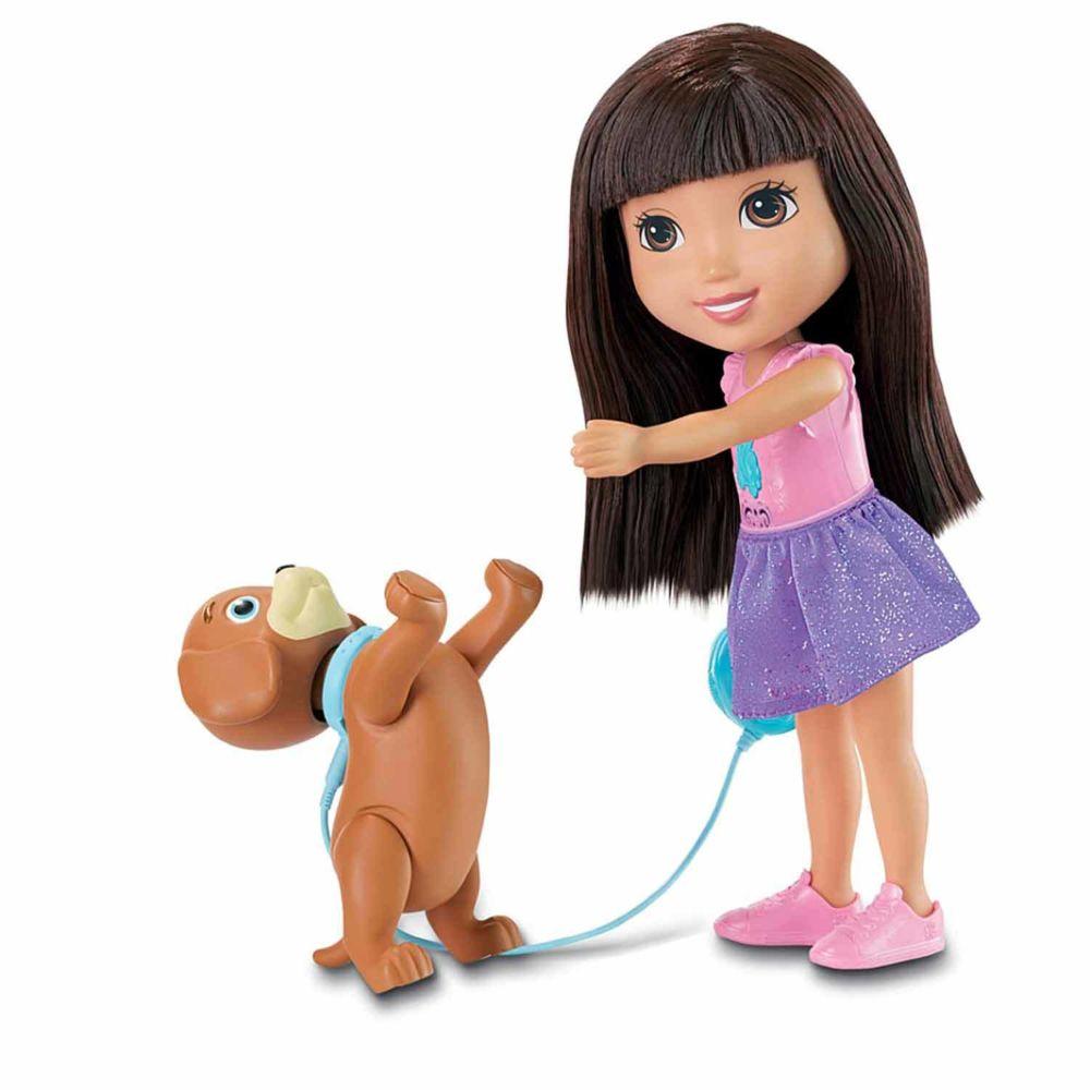 Fisher Price Poupée Dora and Friends : Dora et son chien savant
