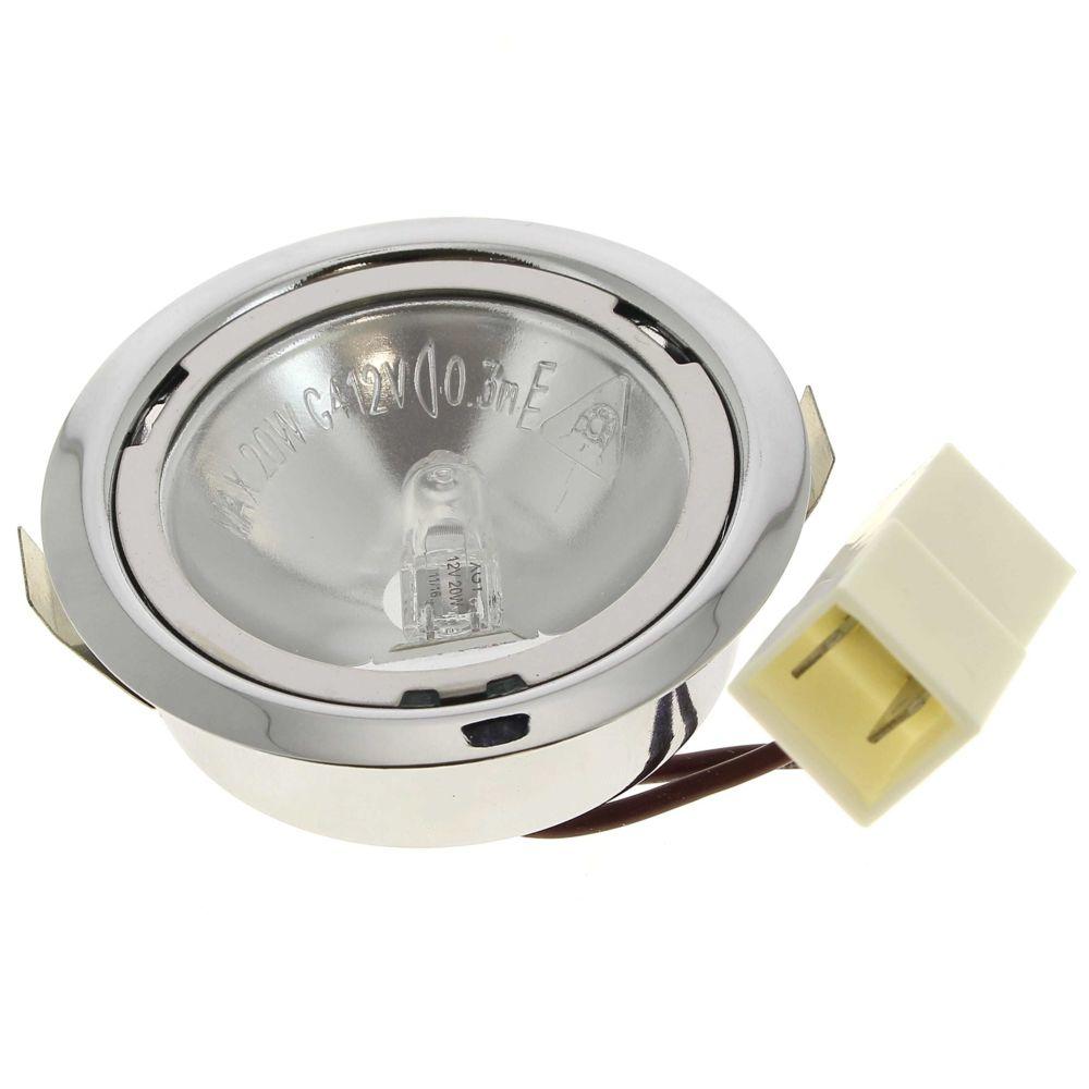 De Dietrich Spot + ampoule halogene 12v 20w pour Hotte Bosch, Hotte Siemens, Hotte Bauknecht, Droguerie Accessoire, Hotte Rosieres,