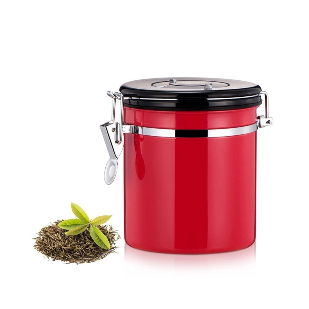 Wewoo 1200ml en acier inoxydable scellé café et rouge aliments motifs conteneur de stockage de haricots avec intégré CO2 soupa