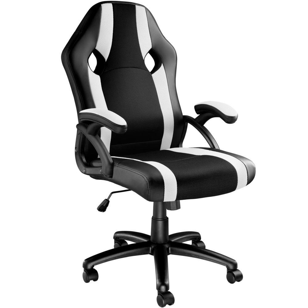 Tectake Chaise gamer GOODMAN - noir/blanc